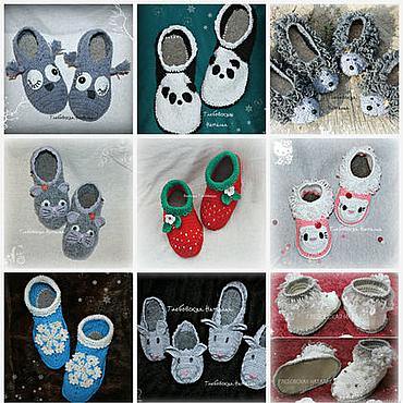 Footwear handmade. Livemaster - original item Children`s knitted Slippers .. Handmade.