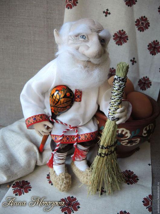 """Сказочные персонажи ручной работы. Ярмарка Мастеров - ручная работа. Купить """"Домовой""""- авторская текстильная кукла. Handmade. Белый"""