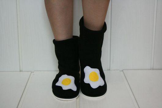 """Обувь ручной работы. Ярмарка Мастеров - ручная работа. Купить Чуники  """" Я у мамы поваренок """"). Handmade. Черный"""