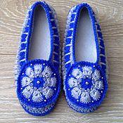handmade. Livemaster - original item Home Slippers crochet Vasilisa. Handmade.