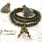 Фен-шуй и эзотерика handmade. Livemaster - original item Rosary of sandalwood green. Handmade.