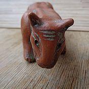 Для дома и интерьера ручной работы. Ярмарка Мастеров - ручная работа Керамическая фигурка.Глазурь,лощение,ганозис.Степное животное. Handmade.