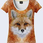 """Одежда ручной работы. Ярмарка Мастеров - ручная работа Женская футболка """"Лиса"""". Handmade."""