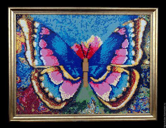 """Животные ручной работы. Ярмарка Мастеров - ручная работа. Купить Картина алмазной мозаикой """"Рисунок бабочки"""". Handmade. Комбинированный, на заказ"""