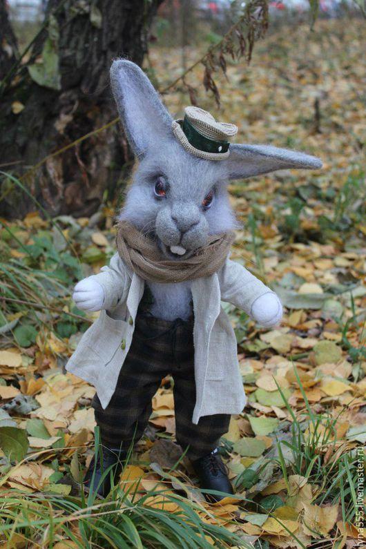 Игрушки животные, ручной работы. Ярмарка Мастеров - ручная работа. Купить мартовский заяц. Handmade. Серый, мартовский заяц