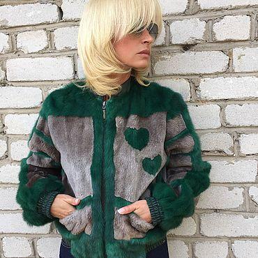 Одежда ручной работы. Ярмарка Мастеров - ручная работа Куртка-бомбер меховой. Handmade.