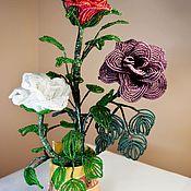 Цветы ручной работы. Ярмарка Мастеров - ручная работа Букет роз. Handmade.