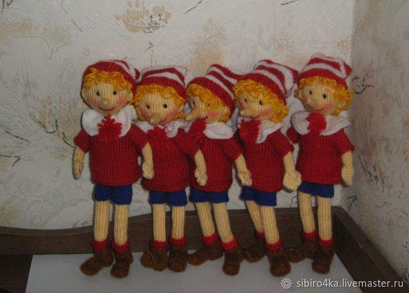 Буратино - вязаная игрушка, Мягкие игрушки, Маркс,  Фото №1
