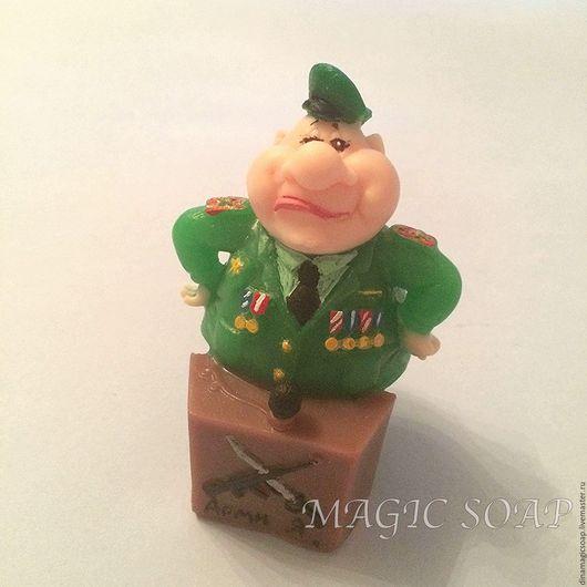 """Мыло ручной работы. Ярмарка Мастеров - ручная работа. Купить мыло  в подарок на 23 февраля """"Генерал"""". Handmade. Тёмно-зелёный"""