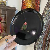 Винтаж handmade. Livemaster - original item Tea rose. A set of plates by Pierre Cardin, Japan. Handmade.