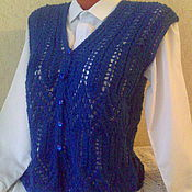 """Одежда ручной работы. Ярмарка Мастеров - ручная работа Вязаный  жилет """"Чудесный"""" ручной работы. Handmade."""