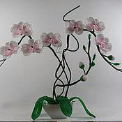 Цветы и флористика ручной работы. Ярмарка Мастеров - ручная работа Орхидея из бисера. Handmade.
