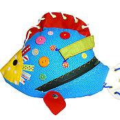 """Куклы и игрушки ручной работы. Ярмарка Мастеров - ручная работа Развивающая игрушка """"Рыба"""". Handmade."""