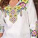 Блузки ручной работы. Блузка вышитая (вышитый набор для пошива  блузки). Катерина (Blossom7). Интернет-магазин Ярмарка Мастеров.