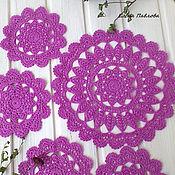 Для дома и интерьера handmade. Livemaster - original item doilies crochet set of serving
