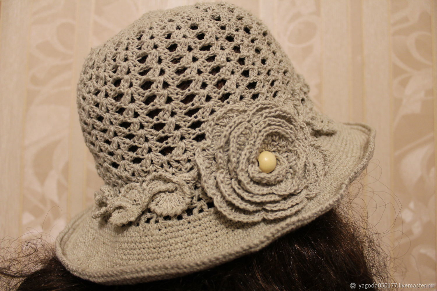 Knitted hat with brim, Hats1, Kaluga,  Фото №1