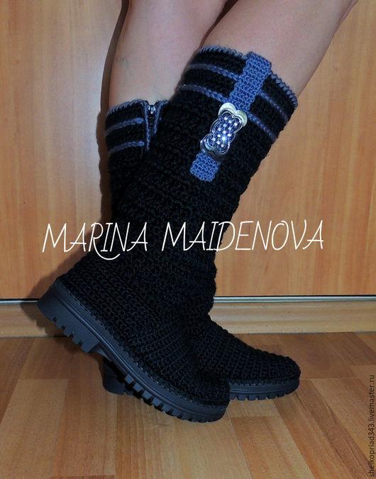 Обувь ручной работы. Ярмарка Мастеров - ручная работа. Купить САПОГИ LIKA, СЕЗОН ОСЕНЬ-ВЕСНА, цвет черный. Handmade.