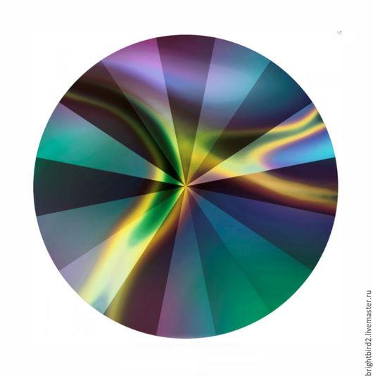 Для украшений ручной работы. Ярмарка Мастеров - ручная работа. Купить Риволи Rainbow Dark 1122  Сваровски. Handmade.