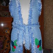Одежда ручной работы. Ярмарка Мастеров - ручная работа Голубая жилетка. Handmade.