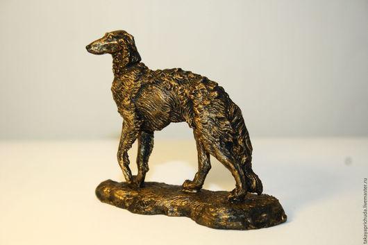 Статуэтки ручной работы. Ярмарка Мастеров - ручная работа. Купить РУССКАЯ ПСОВАЯ БОРЗАЯ  - статуэтка (оловянная фигурка собаки. Handmade.