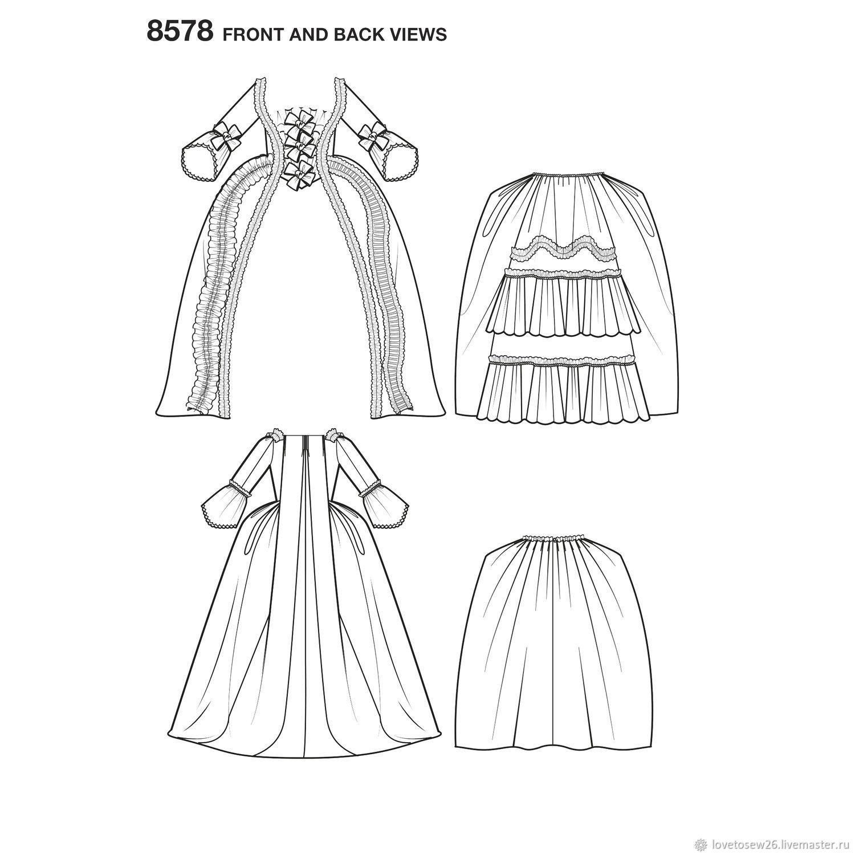SEWING PATTERN Historic Sack-Back Gown Robe à la française Dress ...