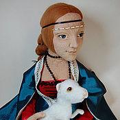 Куклы и игрушки ручной работы. Ярмарка Мастеров - ручная работа Авторская игрушка - Дама с горностаем. Handmade.