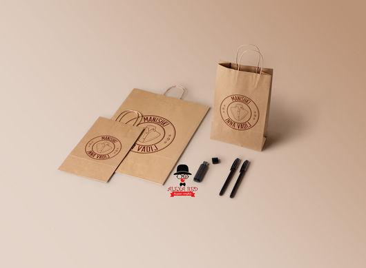 Упаковка ручной работы. Ярмарка Мастеров - ручная работа. Купить Крафт-пакеты с логотипом от 100 штук.. Handmade.