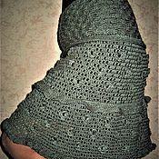 Одежда ручной работы. Ярмарка Мастеров - ручная работа Юбка связанная в филейной технике. Handmade.