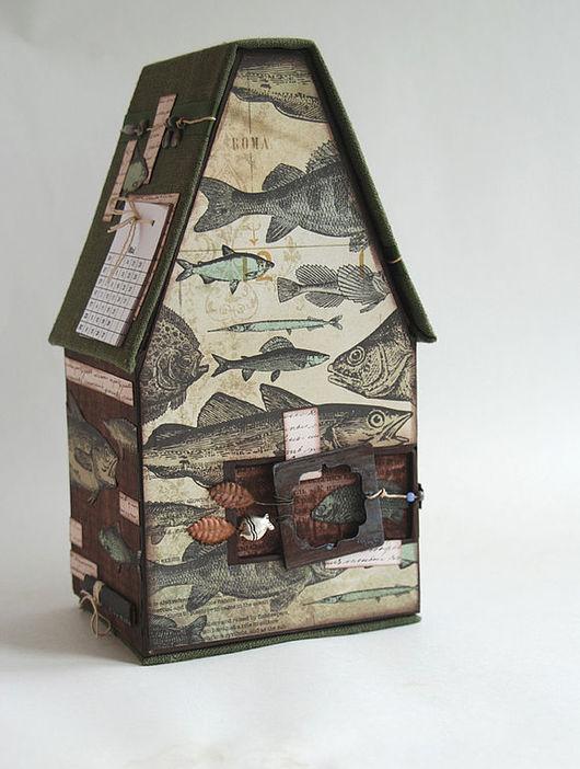 Календари ручной работы. Ярмарка Мастеров - ручная работа. Купить Домик рыбака. Handmade. Рыбы, домик, рыбки