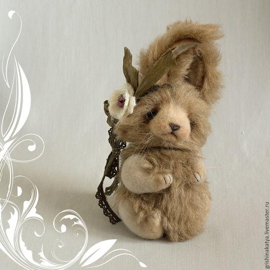 Кролик тедди. Авторский кролик. Авторские игрушки Екатерины Гришиной. Авторские игрушки CatherineBears.
