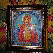 Картины и панно ручной работы. Ярмарка Мастеров - ручная работа икона Знамение. Handmade.