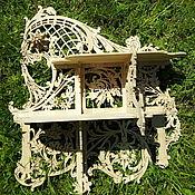 Для дома и интерьера ручной работы. Ярмарка Мастеров - ручная работа Полка резная ажурная 160. Handmade.