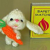Куклы и игрушки ручной работы. Ярмарка Мастеров - ручная работа Мини  зайки. Handmade.