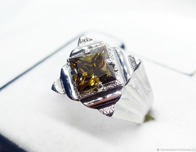 Мужской перстень с муассанитом 2.25кт серебро 925 пробы, Перстень, Рязань,  Фото №1