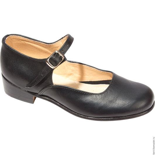 Обувь ручной работы. Ярмарка Мастеров - ручная работа. Купить Туфли народно-характерные (чёрные). Handmade. Черный, танцы