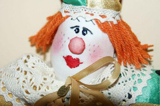 Коллекционные куклы ручной работы. Ярмарка Мастеров - ручная работа. Купить клоун Коля. Handmade. Ярко-зелёный, игрушка на елку