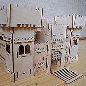 Крепость рыцарей замок деревянный
