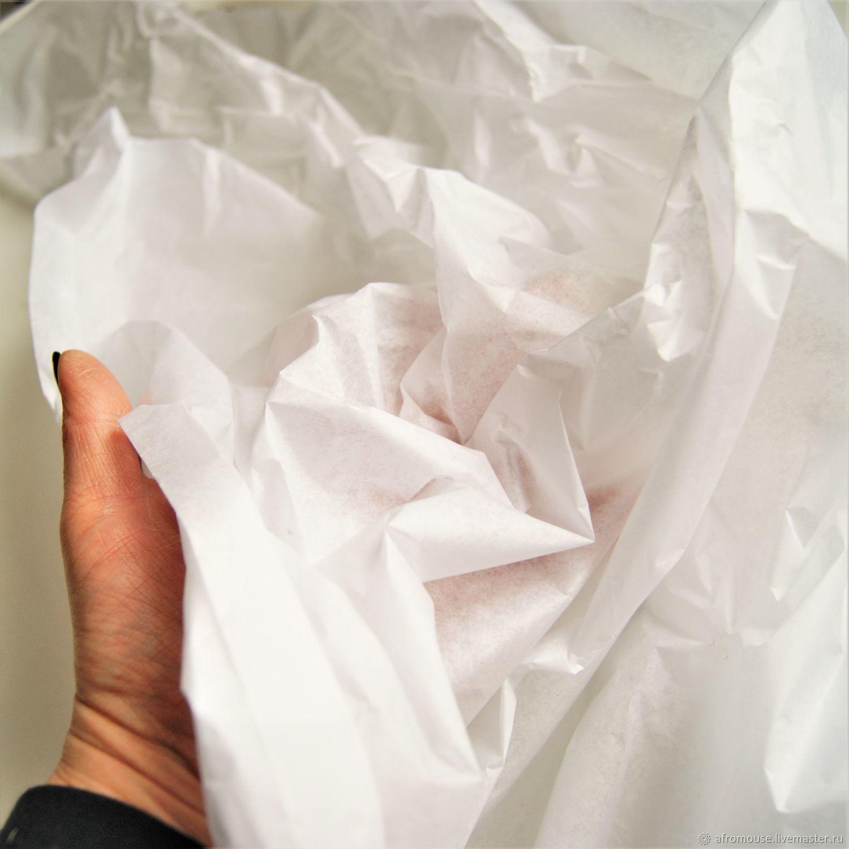 """Тишью """"Белая в рулоне"""" 10 м , ширина 84 см  бумага, Упаковочная бумага, Москва,  Фото №1"""