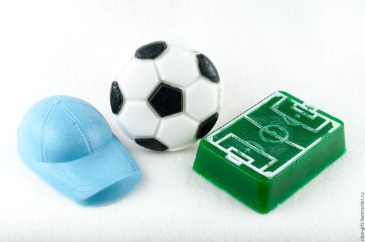 Мыло ручной работы. Ярмарка Мастеров - ручная работа. Купить Мыло ручной работы Футбольному фанату мячик стадион. Handmade.