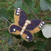 Украшения ручной работы. Ярмарка Мастеров - ручная работа Бабочка - золотая осень. Handmade.