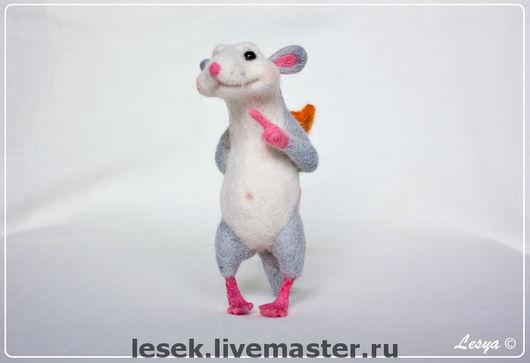 Игрушки животные, ручной работы. Ярмарка Мастеров - ручная работа. Купить Крысёнок Ну-фу. Handmade. Авторская игрушка