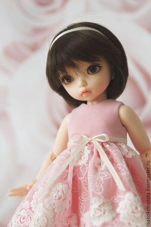 Одежда для кукол ручной работы. Ярмарка Мастеров - ручная работа. Купить Праздничное платье для куклы. Handmade. Розовый, одежда для bjd