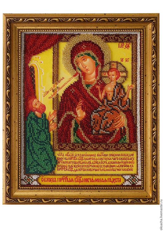 Иконы ручной работы. Ярмарка Мастеров - ручная работа. Купить икона Пресвятой Богородицы «Нечаянная Радость». Handmade. Комбинированный, подарок
