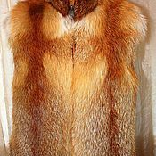 handmade. Livemaster - original item Fox fur vest. Handmade.