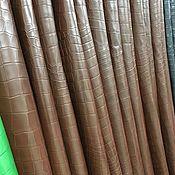 Кожа ручной работы. Ярмарка Мастеров - ручная работа Кожа крокодила, одёжной выделки, мягкая и тонкая, 0.6 - 07. мм.. Handmade.