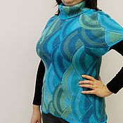 Одежда handmade. Livemaster - original item Tank top knitted