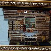 Румбоксы ручной работы. Ярмарка Мастеров - ручная работа Румбокс, изба с печкой. Handmade.