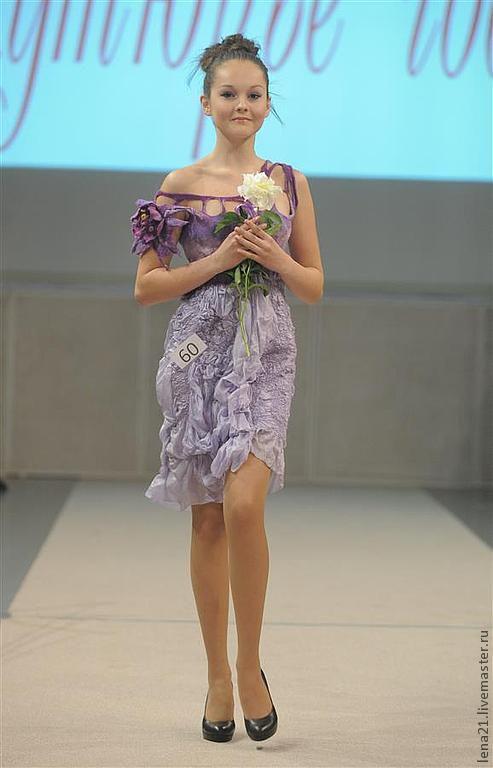 Платья ручной работы. Ярмарка Мастеров - ручная работа. Купить Платье Сиреневый туман. Handmade. Сиреневый, ручная авторская работа