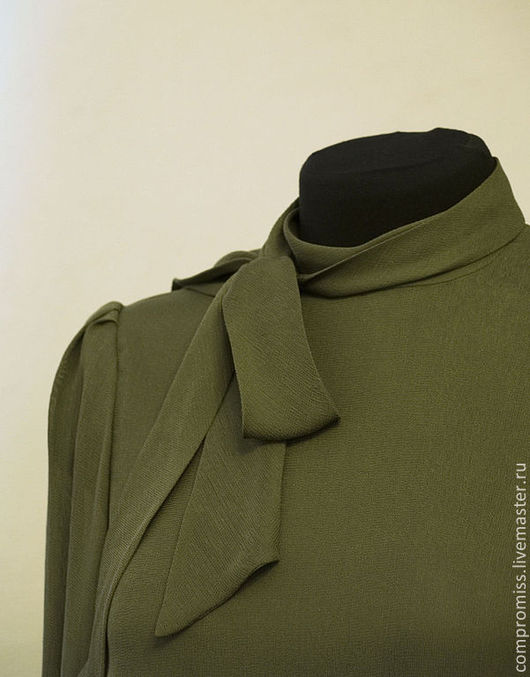 Костюмы ручной работы. Ярмарка Мастеров - ручная работа. Купить комплект блузка+юбка. Handmade. Тёмно-зелёный, одежда для женщин