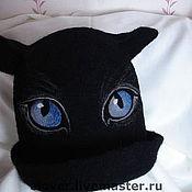 """Для дома и интерьера ручной работы. Ярмарка Мастеров - ручная работа Шапка для бани """"Черная кошка"""". Handmade."""